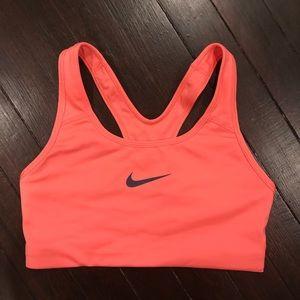 Like New Coral Nike Pro Sports Bra